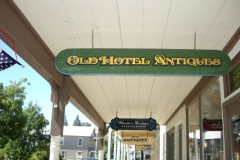 Old Hotel Antiques sign