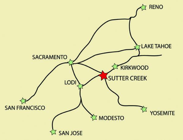 sutter creek california map