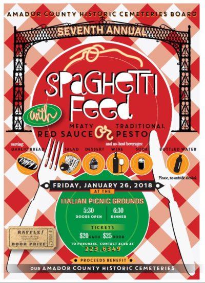 Amador County Cemetery Board Spaghetti Feed