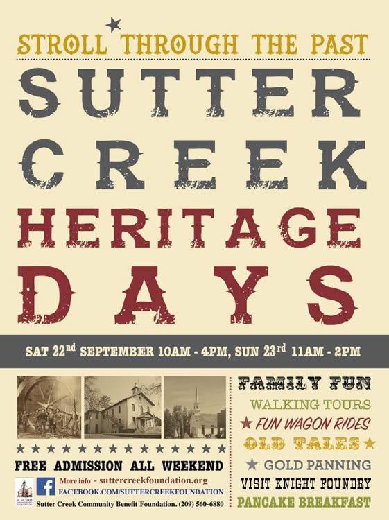 sutter creek heritage days