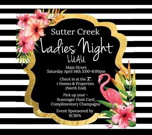sutter creek event ladies night