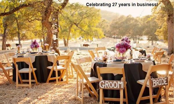 sutter creek wedding party rentals