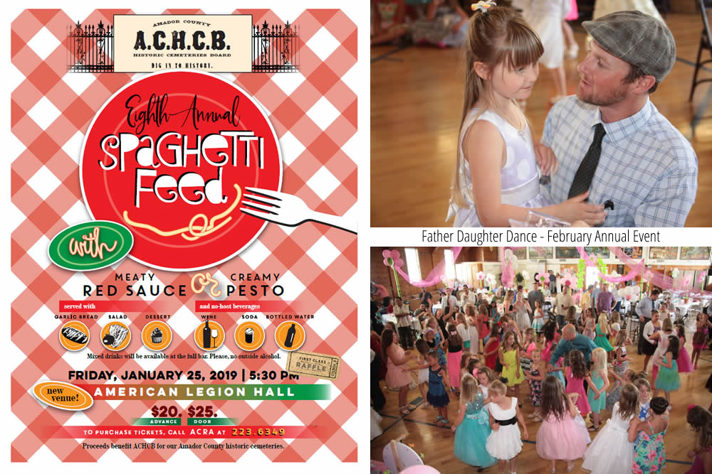 sutter creek annual spaghetti feed and father daughter dance