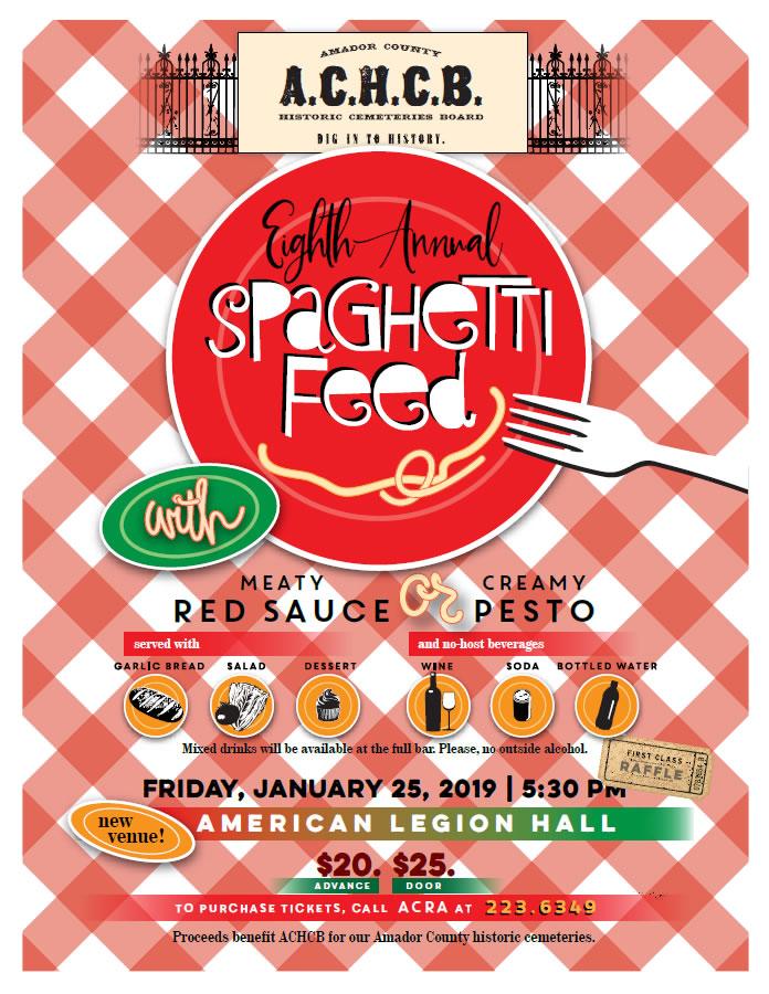 sutter creek spaghetti feed - january 2019