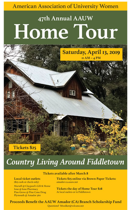 Home Tour Poster for Amador County home tour