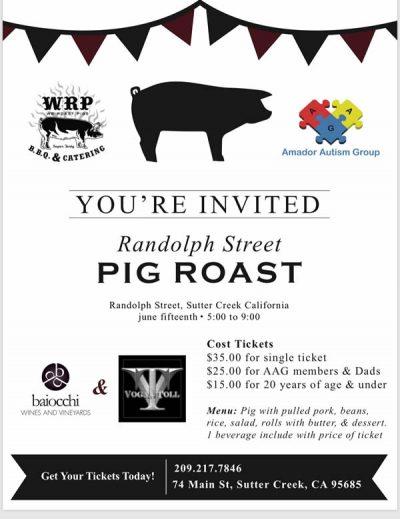 Sutter Creek Pig Roast Poster