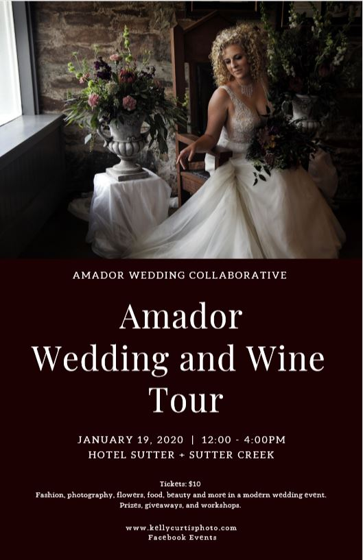 amador county wedding and wine tour event flyer