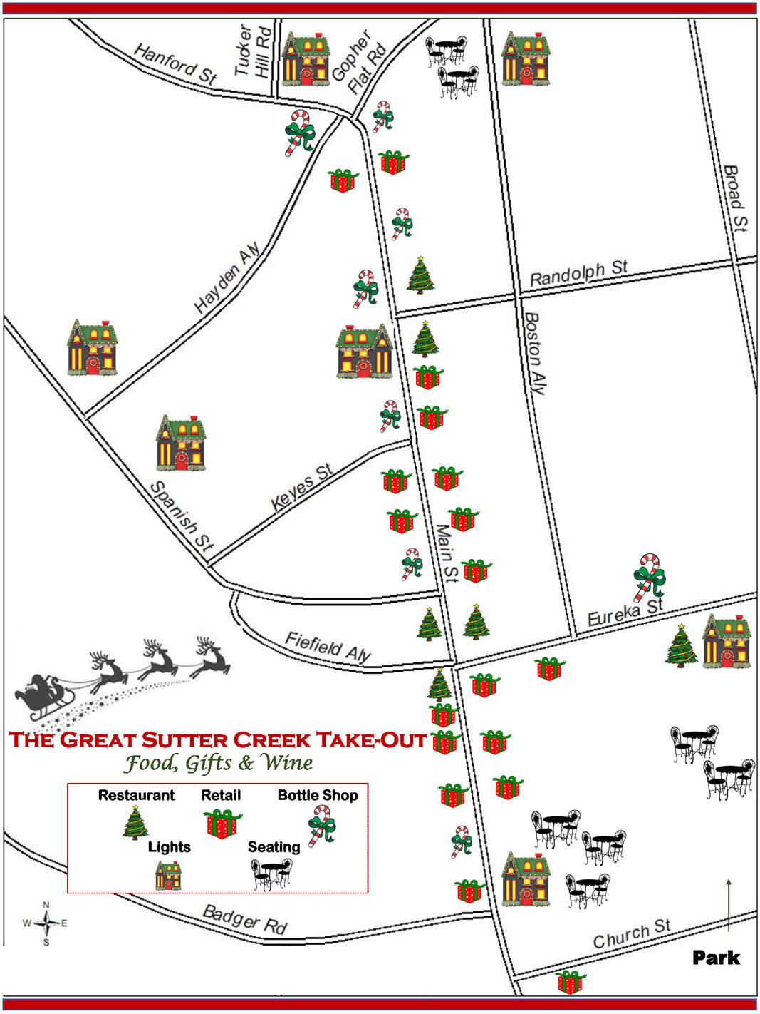 sutter creek take out map