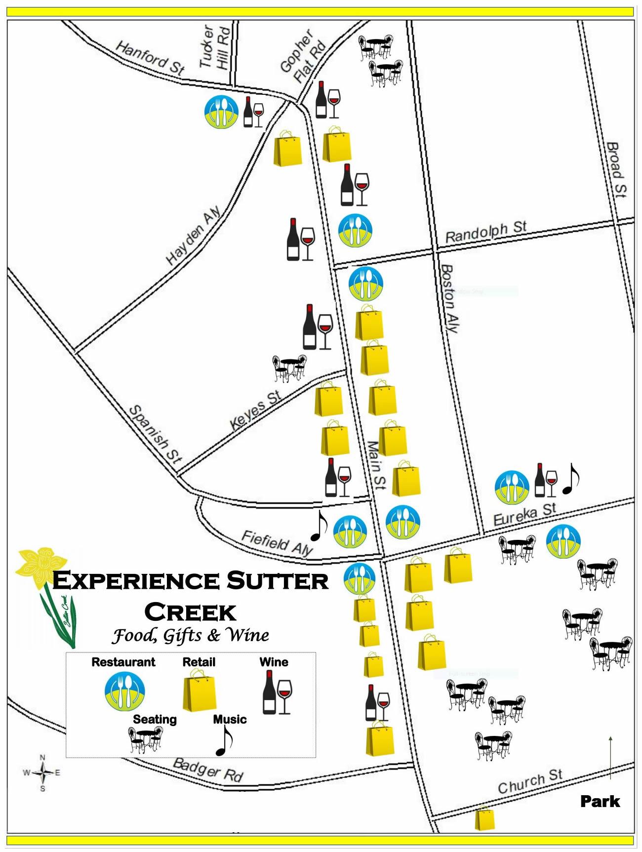 sutter creek spring map