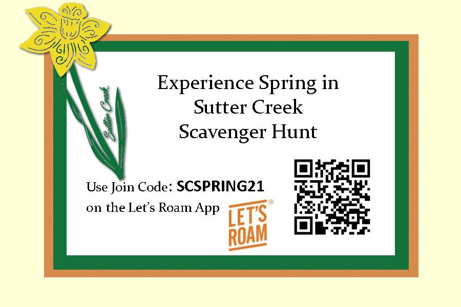 Let's Roam Scavenger Hunt ~ Sutter Creek