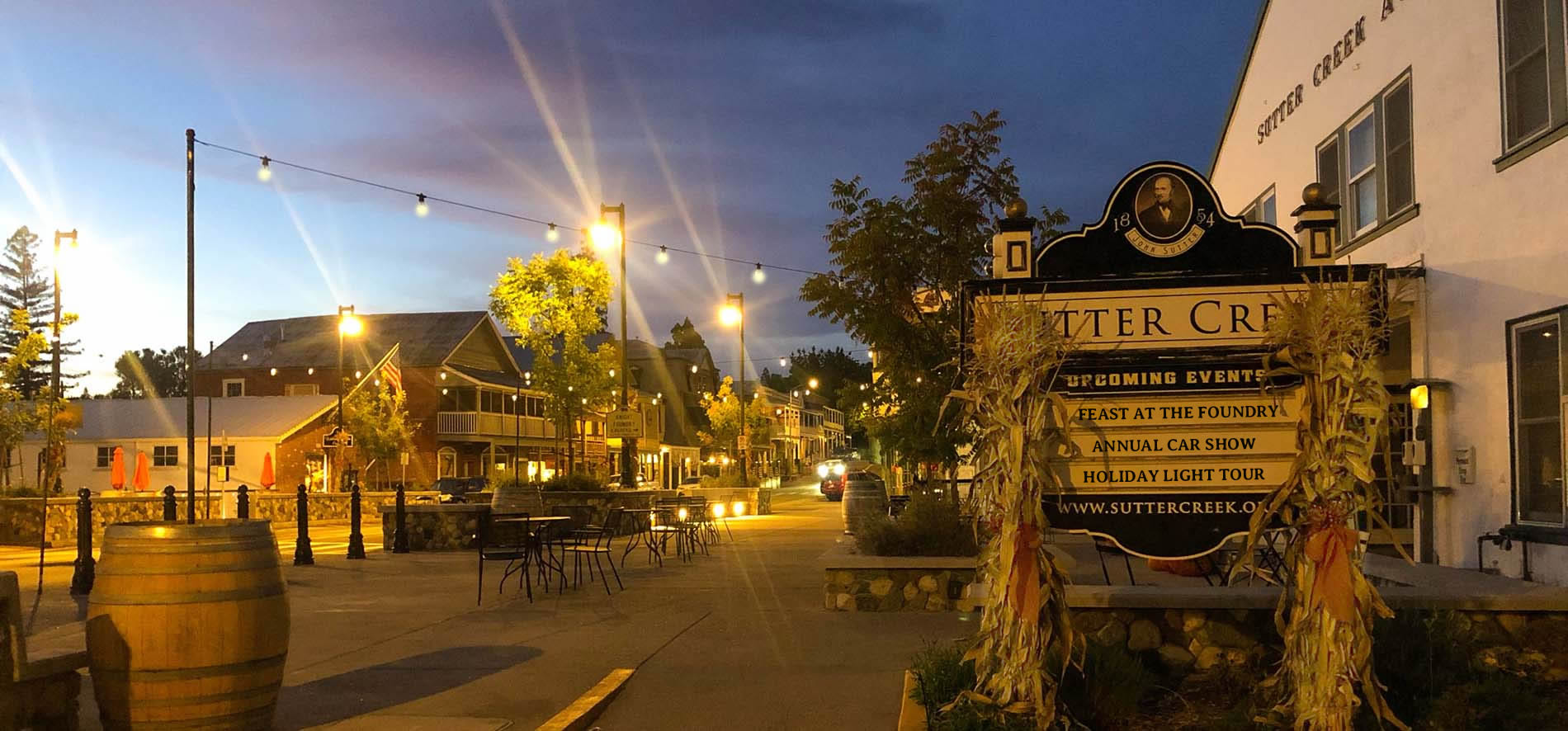 sutter creek plaza evening